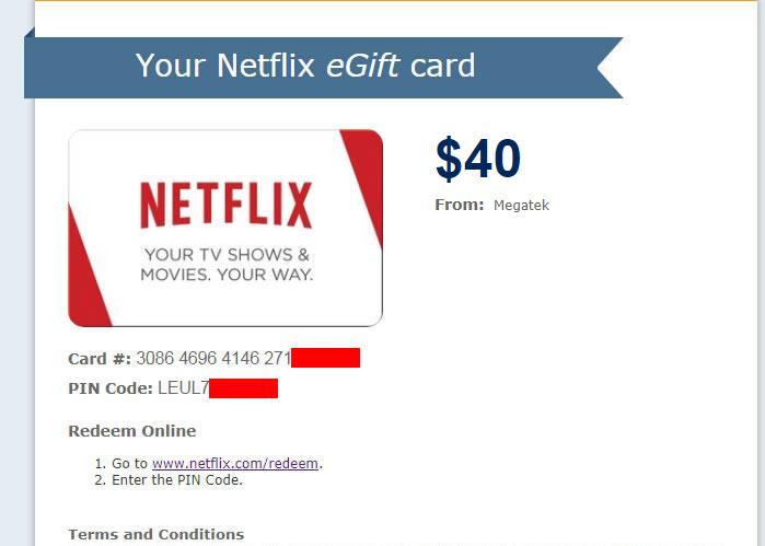 conseguir tarjeta de regalo netflix